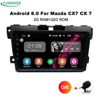 Funrover 9 Inch Android 8 0 Car Autoradio For Mazda CX7 CX 7 Car DVD Player