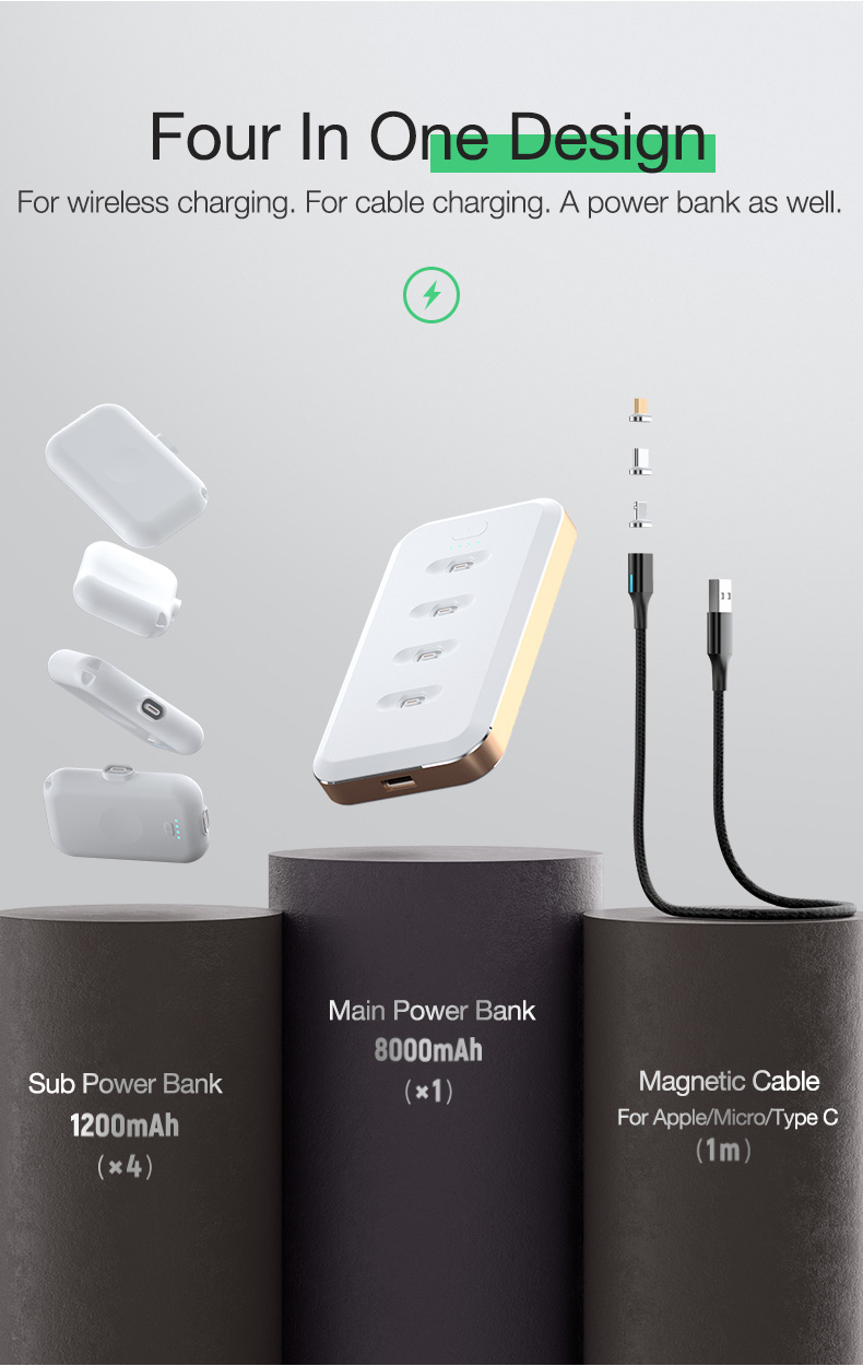 Magnetic Wireless Power Bank Portable Charger External Battery (2)