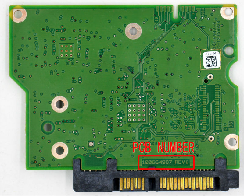 HDD PCB para SEAGATE/placa lógica/número de placa: 100664987 REV B o REV A