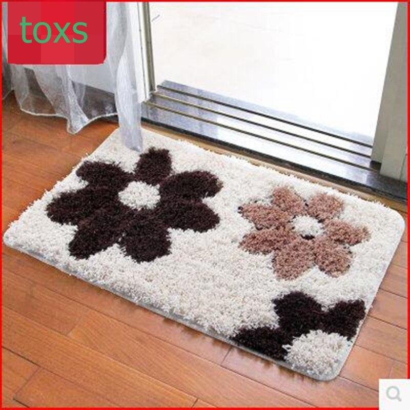 Quality plush absorbent mats doormat bed blankets bathroom mat slip-resistant mats 50cm*80cm per piece