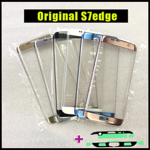 1Pcs Original Replacement LCD Front Screen Outer Glass Lens For Samsung Galaxy S7 edge G935 G935F + Frame Sticker