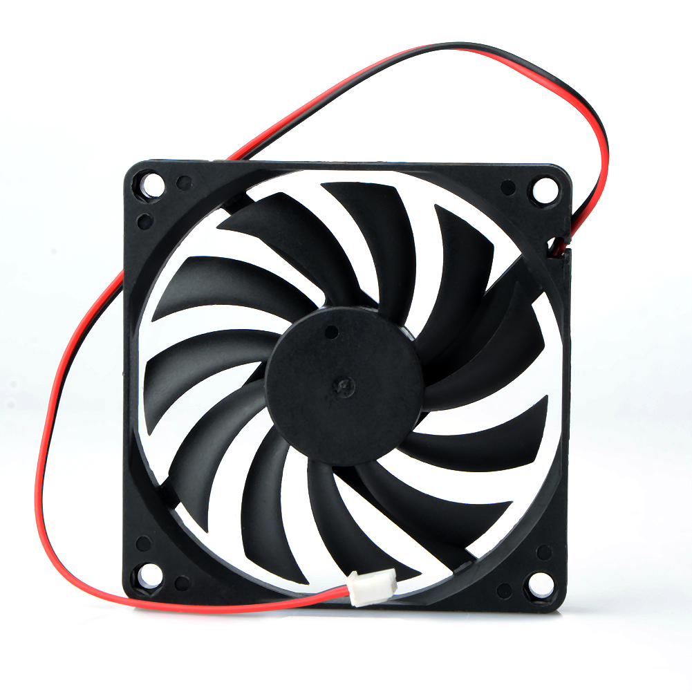 1 Pcs 80mm 2 Pin DC 12Volt 2P Connector Cooling Fan  For Computer Case CPU Cooler Radiato 8010 DC Axial Flow Cooling Cooler Fan