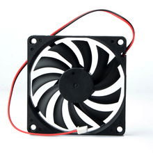 1 pcs 80mm 2 Pin DC 12Volt 2P Connector Cooling Fan  for Computer Case CPU Cooler Radiato 8010 DC Axial Flow Cooling Cooler Fan gdstime 18060 180x180x60mm 18cm 180mm ac cooling axial brushless fan cooler