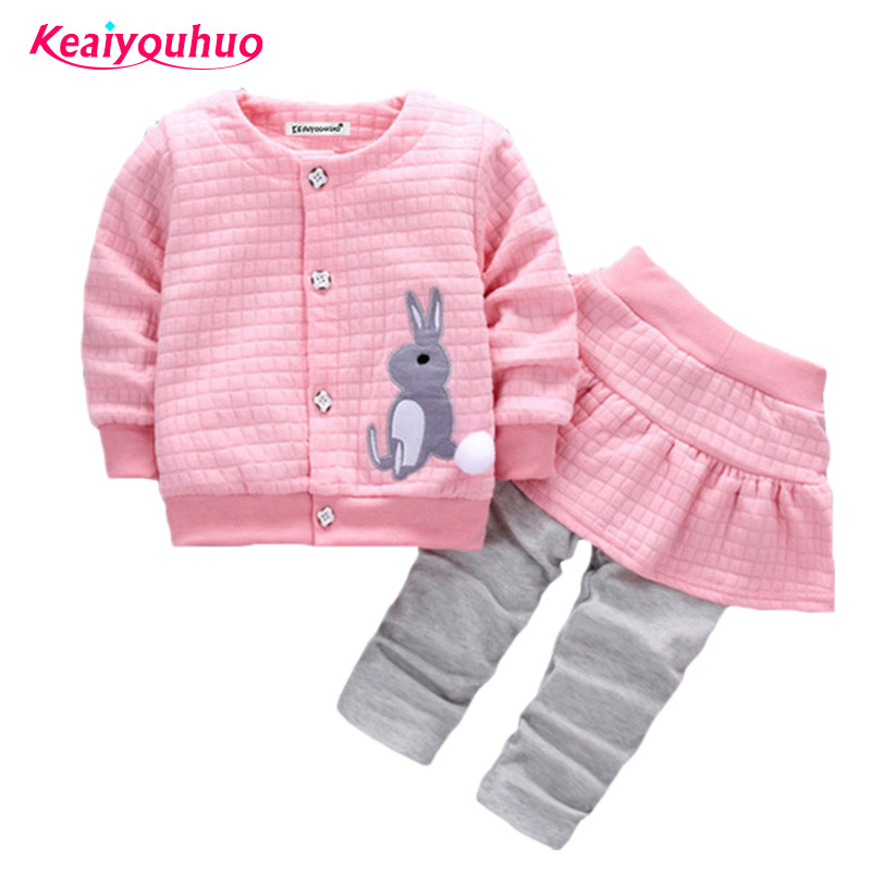 Baby Girls Clothing Set 2017 New Fashion Kids Girls Clothes 2pcs Shirt+Pants Boys Sport Suit Children's Clothing Sets