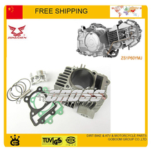 ZONGSHEN W155 150cc 155cc 160cc engine cylinder piston ring pin gasket DHZ HK160R xmotos piterspro KAYO BSE dirt pit bike parts