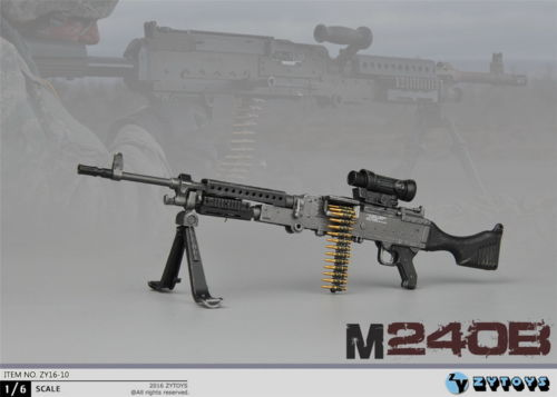 ZY TOYS 1//6 Scale Model MG3 Machine Gun 50pc 7.62 Caliber Metal Bullet Chain
