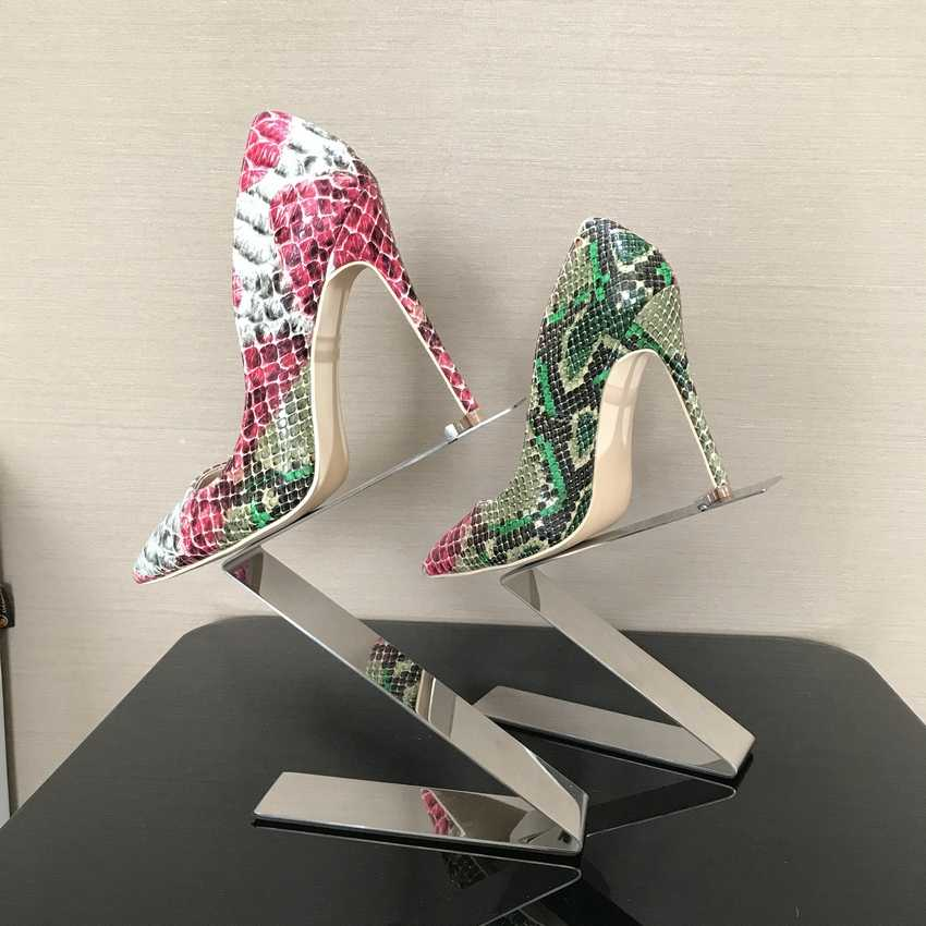 2018 Mùa Xuân Nhãn Hiệu Giày Nữ Cao Gót Womens Lady Bơm Cao gót Giày Ladies Giày Rắn In màu be dưới 8 10 12 cm