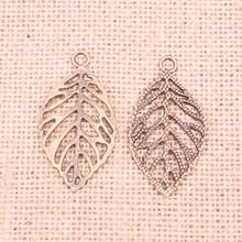 28pcs Jewelry Charms hollow leaf 49x26mm Antique pendant,Vintage Tibetan Bronze,DIY bracelet necklace