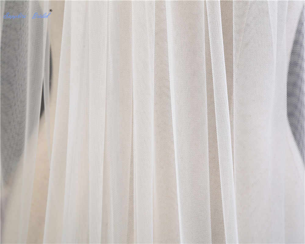 Favorablement 2019 nouveau Simple Tulle mariage voile 200 cm Simple couche chapelle longueur mariée voile