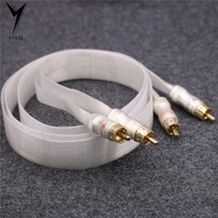 Second Hand HI end High Purity RCA to RCA Metal Pure Copper Plated Gold Connector Speaker DIY finished Audio Cable Wire Cord