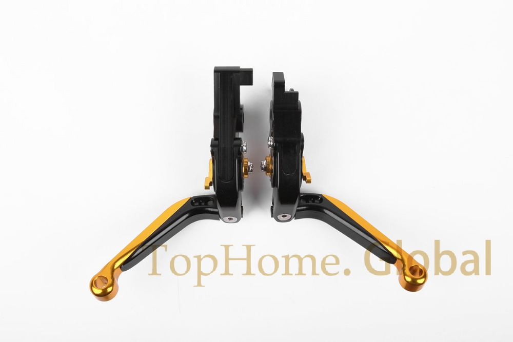 CNC Foldaing&Extending Brake Clutch Levers For MOTO GUZZI GRISO 850 /1100/1200/8V 2006-2009 Golden&Black adjustable cnc aluminum clutch brake levers with regulators for moto guzzi breva 1100 2006 2012 1200 sport 07 08 09 10 11 12 13