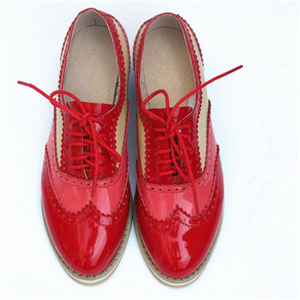 Image 5 - Womens Flats Oxford Shoes Woman Genuine Leather Sneakers Ladies Brogues Vintage Casual Oxfords Shoes For Women Footwear