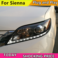 Car Headlights For For Toyota Sienna LED Head Lamp 2011 2012 2013 2014 2017 year Style ForSienna headlight Front lamp