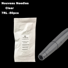 50pcs 600D-G Clear Permanent Makeup Needles 7RL For Tattoo Eyebrow Lips Eyeliner Needles
