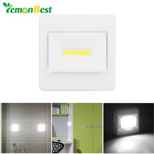 Lemonbest LED Magnetic Switch Night Light Battery Operated Cordless Under Cabinet Lighting With Magnetic & Sticker Night Lamp(China)
