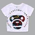 2016 Camisa Nova T Meninos Marca Verão Dos Desenhos Animados Encabeça Tee Meninos Da Criança do bebê T-shirt Dos Miúdos de Alta Qualidade T Shirt Crianças roupas