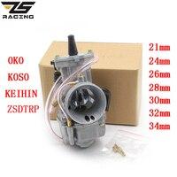 ZS Racing Modified Keihin Koso OKO Motorcycle Carburetor Carburador 21 24 26 28 30 32 34