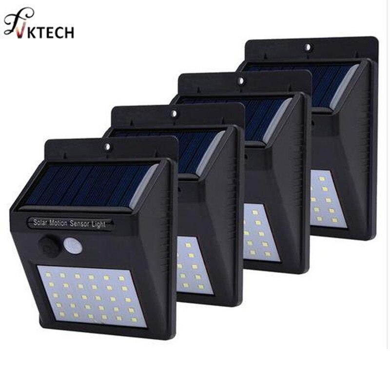 1-4pcs Solar Light 20/30 Leds PIR Motion Sensor Wireless Solar Wall Lamp Waterproof Outdoor Yard Deck Garden LED Light Dropship