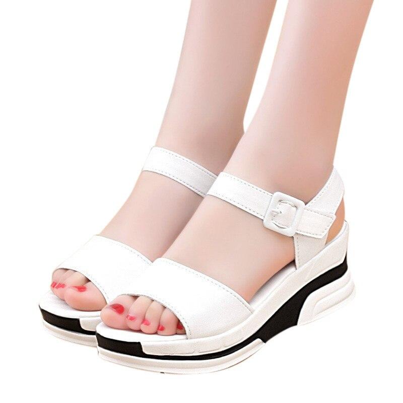 Для женщин летние босоножки модные с открытым носком Обувь на среднем каблуке обувь на плоской подошве, сандалии женские сандалии для Для женщин Zapatos Mujer