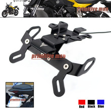 For YAMAHA MT-07 FZ-07 MT 07 MT07 2014-2016 Fender Eliminator Registration Plate Bracket License Plate Holder LED Light Black