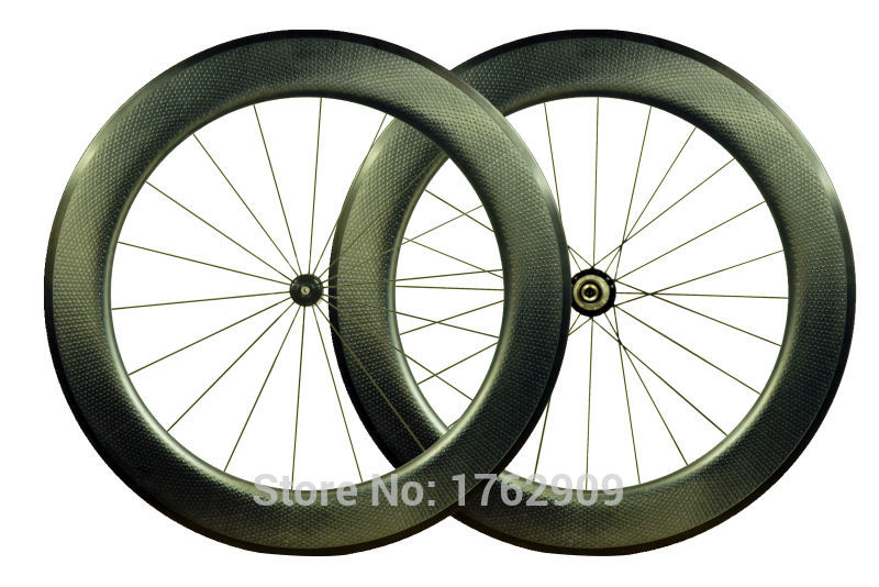 Newest 700C 80mm moonscape clincher rims Road bicycle matte UD full carbon fibre bike wheelsets dimple 25mm width Free shipping new 700c 88mm clincher rims road bicycle matte 3k ud 12k full carbon fibre bike wheelset aero spoke 20 5 23 25mm width free ship