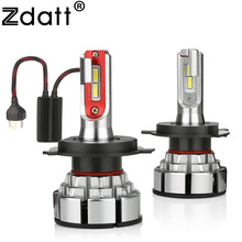 Zdatt H4 LED H7 H11 Car Light Canbus Headlight Bulb 12000LM H8 H1 HB3 9005 9006 H9 100W 6000K 12V 24V Automobile HB4 Lamp zdatt h4 led bulb car light h7 h8 h9 h11 h1 flip led bulb 9005 9006 headlight 100w 12000lm canbus 12v headlamp automobiles 6000k