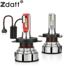 Zdatt H4 LED H7 H11 Car Light Canbus Headlight Bulb 12000LM H8 H1 HB3 9005 9006 H9 100W 6000K 12V 24V Automobile HB4 Lamp(China)