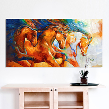 Fashion Wall Pictures Wonderful Color Horses Home Decor On Canvas Modern Wall Art Canvas Print Poster Canvas Painting