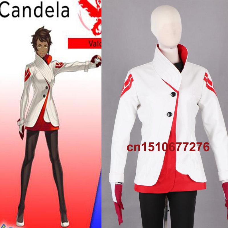 New Game Team valor Candela Trainer Cosplay costume Custom Made