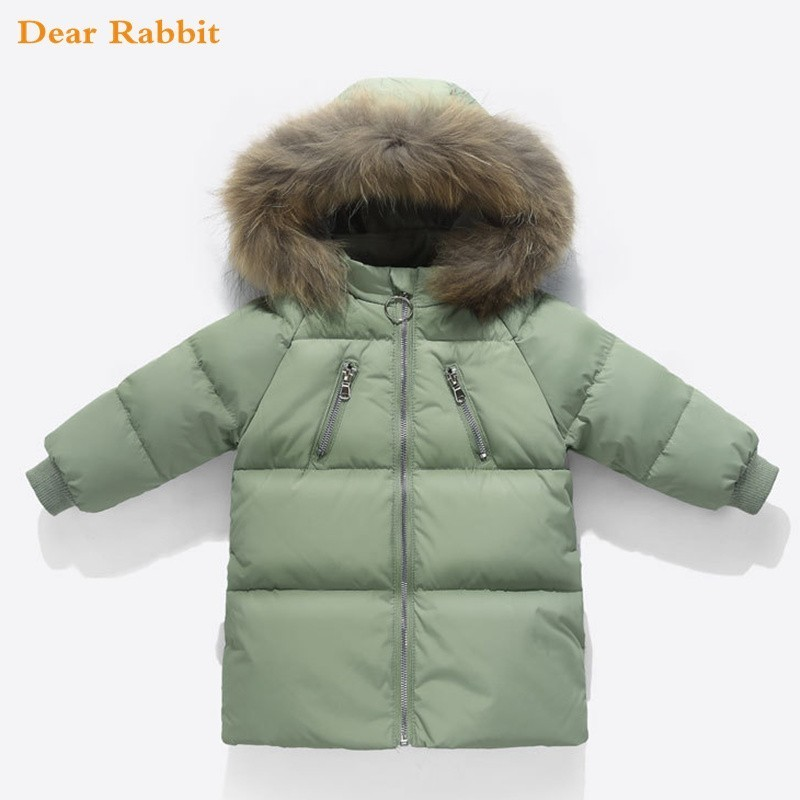 cdff78033730 2018 Children Boys Duck down Jackets Baby girl Winter feather Coat ...