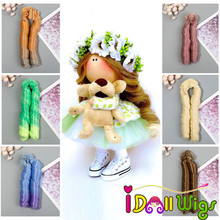 1pcs Hair Extensions for 1/3 1/4 1/6 BJD/Blyth/American Doll High Temperature Synthetic Fiber Wigs DIY Accessories