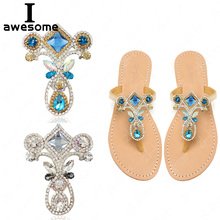 Bohemia Style Rhinestone Bridal Wedding Party Shoes Accessories For High Heels Shoes Boots DIY Manual Boots Shoe Decorations royal blue rhinestone bridal dress shoes super high heel wedding party prom shoes blue crystal christmas party pumps women shoes