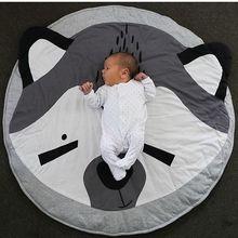 2017 mignon Renard animal coton jeu pad tapis rond Doux bébé Ramper Tapis Tapis bébé couverture tapete infantil Ramper Tapis LT703