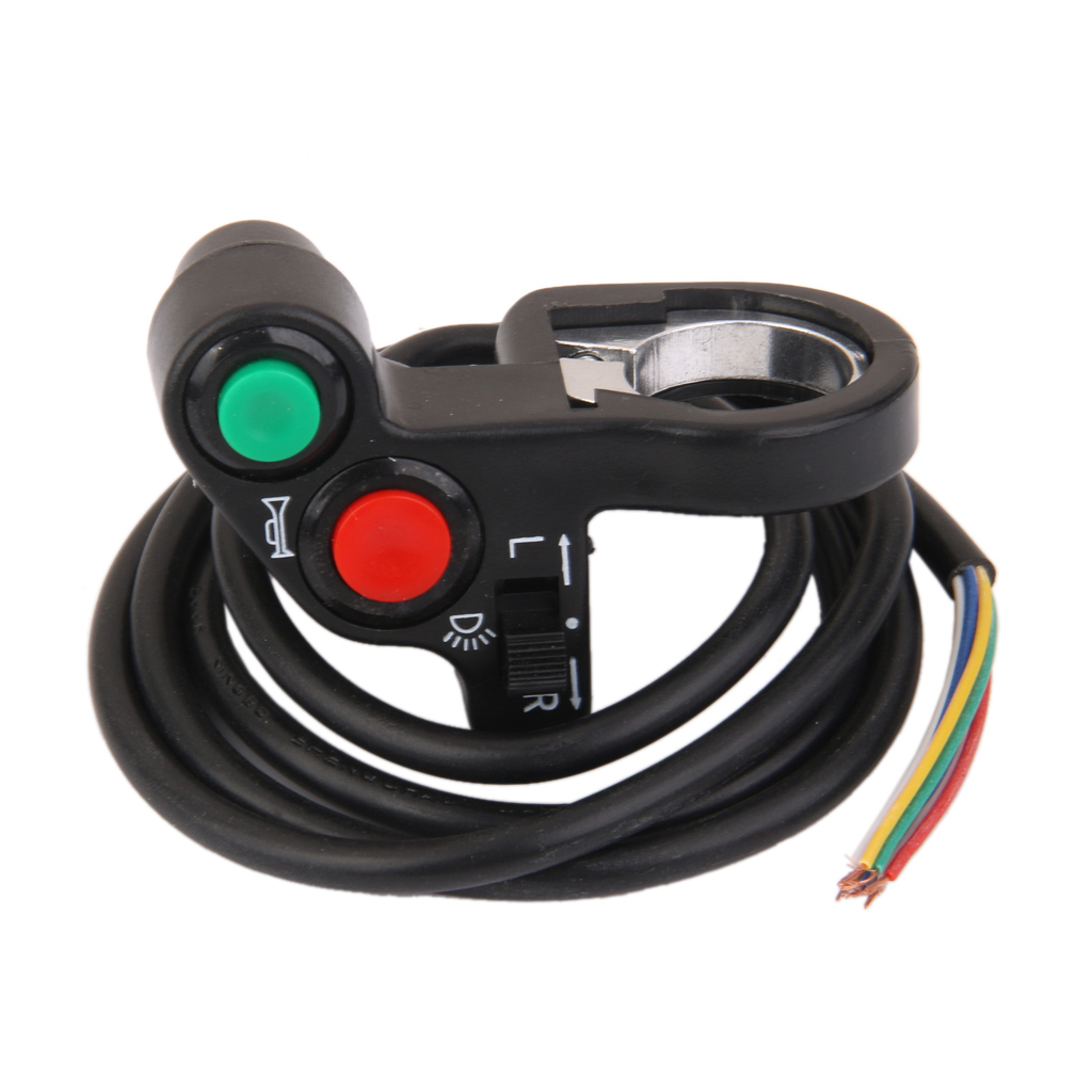 1 Pcs Universal Motorcycle Horn Light Turn Signals On/Off Light Switch12V 7 Pins For 7/8