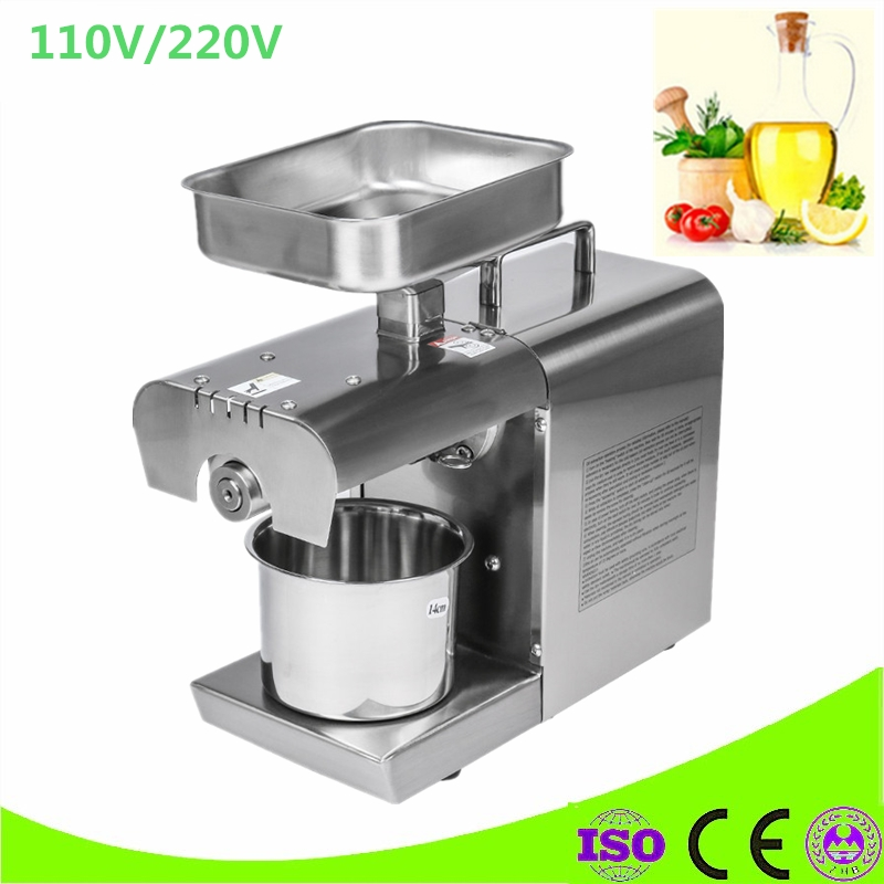 Mini Sesame Coconut Oil pressing Machine Home Use Soybean Oil Pressers Cold Peanuts Electric Stainless Steel Oil Press Machine free shipping home use cold olive oil press machine nuts seeds oil presser pressing machine all stainless steel peanuts oil