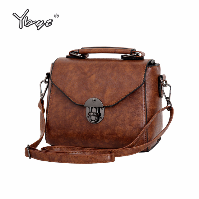 Ybyt Brand 2018 New Vintage Casual Women Pu Leather Small Package Female Simple Handbags Las Shoulder