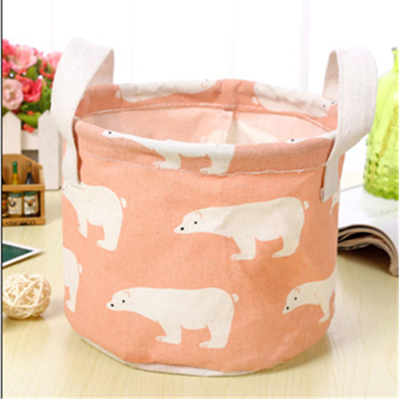 Animal Flamingo Pattern Cotton Linen Hanging Storage Bag Wedding Party Baby Shower Home Cosmetic KidsToy Organizer Decoration Q in Party DIY Decorations from Home Garden