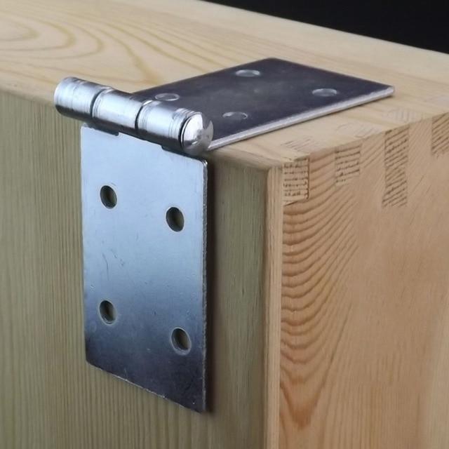Long flap Hinge Round Table Folding Table Hinges Galvanized iron 133mm x 40mm  X4