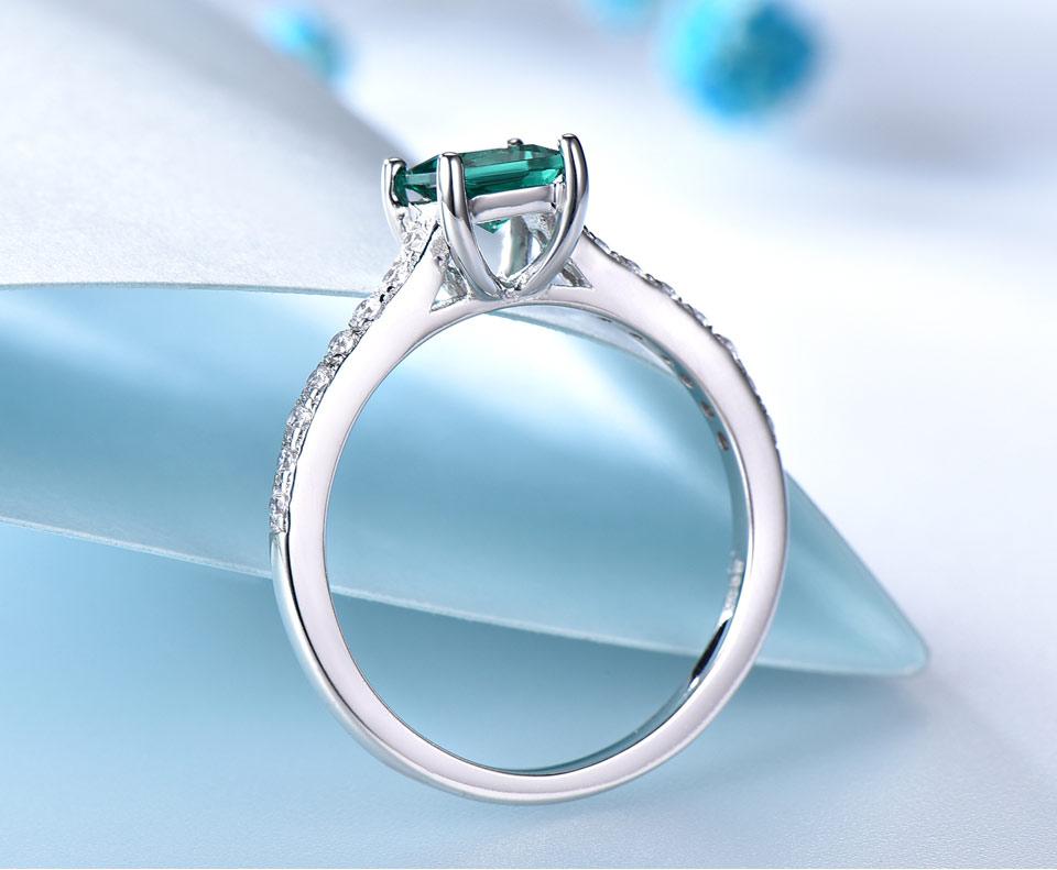 HTB1OUAglcj B1NjSZFHq6yDWpXaU UMCHO Green Emerald Gemstone Rings for Women Genuine 925 Sterling Silver Fashion May Birthstone Ring Romantic Gift Fine Jewelry