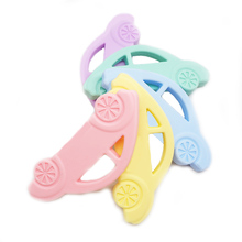 Chenkai 10PCS Silicone Car Teether Soothing Cartoon Pacifier BPA Free For DIY Baby  Nursing Teething Chewing Pendant Toy Gfits