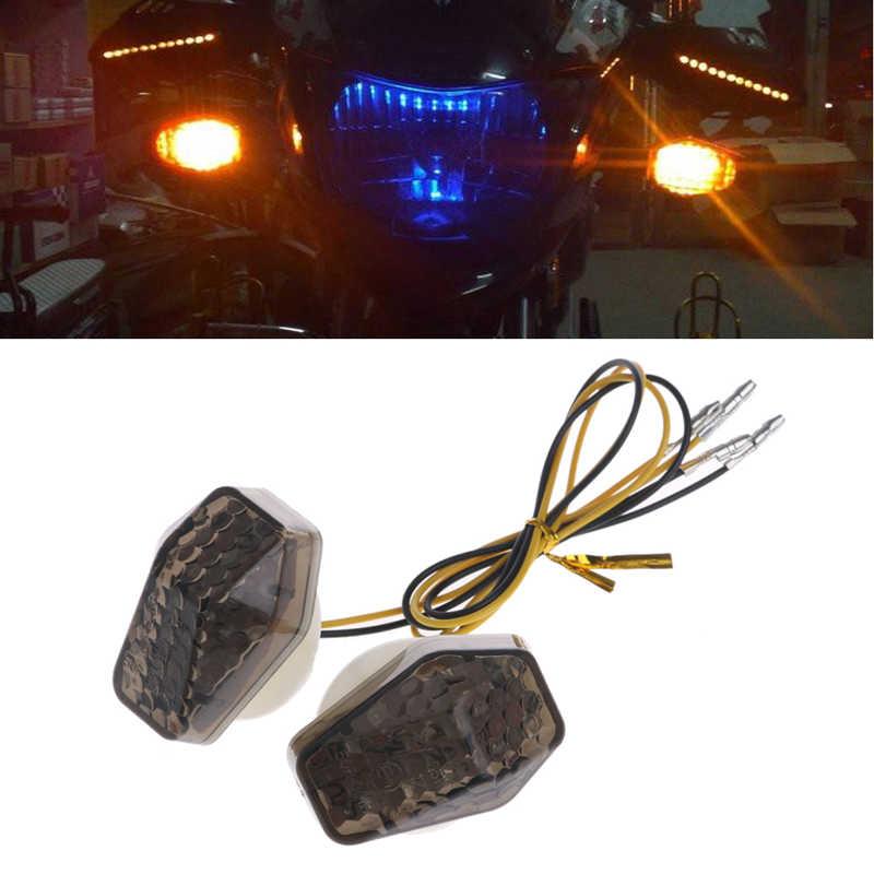 1 זוג אופנועים LED הפעל הר פלאש אות מחוון נצנץ לסוזוקי GSXR 600