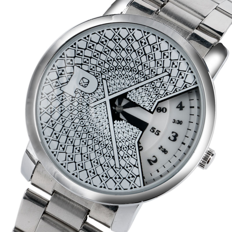 PAIDU Top Brand Stylish Unique Silver Turntable Design Dial Men Women Wristwatch Stainless Steel Strap Casual Quartz Watch Gift 2017 new design black turntable dial men women watch paidu luxury stainless steel band silver quartz wrist watch men s gift