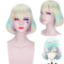 цена Anime Houseki No Kuni Cosplay Wigs Diamond Cosplay 30CM Wigs Halloween Carnival Party Women Cosplay Wigs Land Of The Lustrous в интернет-магазинах
