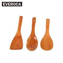 Простой и креативный деревянный половник для супа антипригарный толстый совок для риса изысканный и прочный бытовой пищевой совок для домашнего путешествия