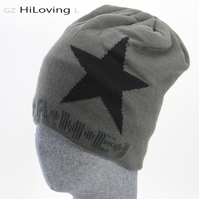 2016 Winter Star Hats Snapbacks High Quality Plush Warm beanies Hat Women Brand Slouchy Beanies Sport Hip Hop Knit Caps Men