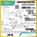 Наборы для инъекций жидкости универсальны  Для R134a  R404A  R507A  R407C и R23  R407A и R407F другие хладагенты по запросу