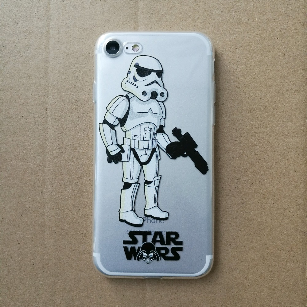 Star Wars Phone Cases Coffee Darth Vader R2D2 Coque for iphone 5 5s se 6 6s 6splus 7 7plus Silicon Transparent tpu Fundas Cover (1)