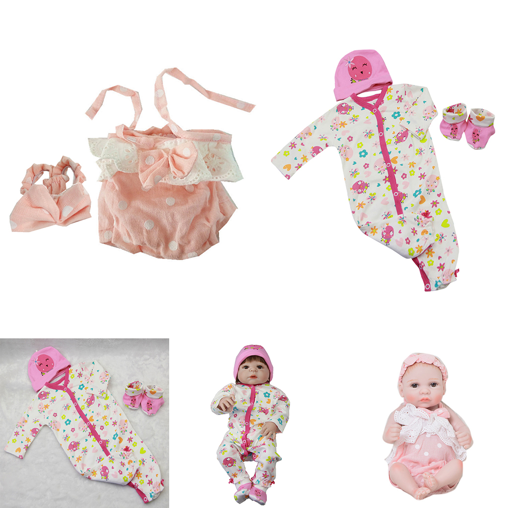 Doll Outfit Romper Jumpsuits Hairband Set For 18 inch AG American Doll Dolls
