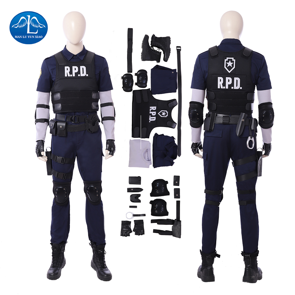 New Arrival Resident Evil 2 Cosplay Costume Women Leon Cosplay Costume Halloween Costumes For Men Game Suit Custom Made