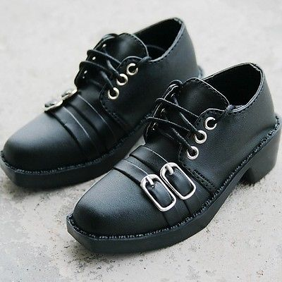 [wamami] 13# Black 1/3 SD DZ AOD BJD Dollfie Synthetic Leather Shoes free shipping sw luts as dz bjd sd boots bjd shoes